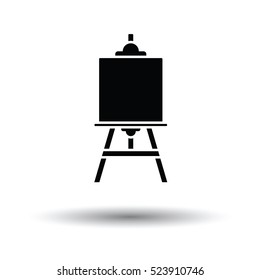 Easel icon. White background with shadow design. Vector illustration.