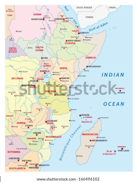 Vector De Stock Libre De Regalias Sobre Mapa De Africa