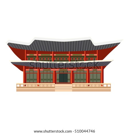 east asian building icon building palace stock vector royalty free
