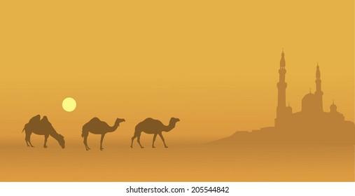 East illustration on Ramadan