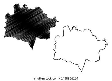 East Kazakhstan Region (Republic of Kazakhstan, Regions of Kazakhstan) map vector illustration, scribble sketch East Kazakhstan map