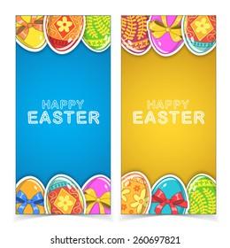Easter banners. Holiday backdrop for card design. Eps 10 vector illustration.