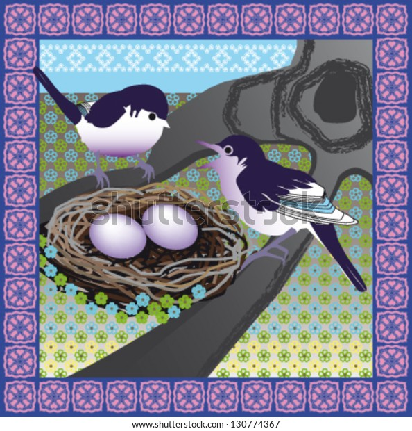 Easter Bird Holiday Greeting Card