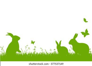 Easter Border, Vector Illustration