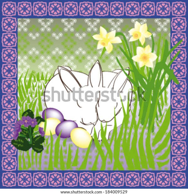 Easter Bunnies sharing an Ear