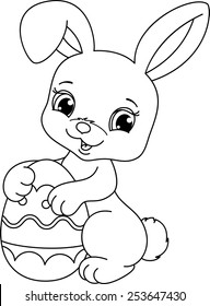 easter bunny coloring page 260nw