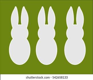 Easter bunny design vector background.