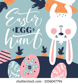 easter bunny egg hunt template