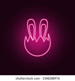 Easter Bunny icon. Elements of Easter in neon style icons. Simple icon for websites, web design, mobile app, info graphics