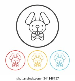 Easter bunny line icon