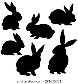 image about Bunny Silhouette Printable named Bunny Silhouette Illustrations or photos, Inventory Shots Vectors Shutterstock