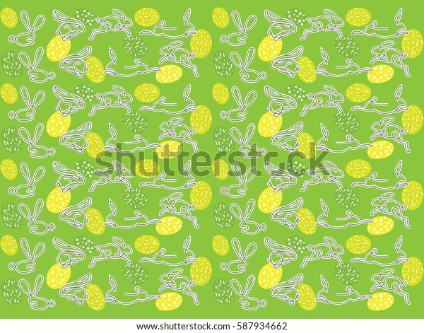 Easter bunny, vector pattern