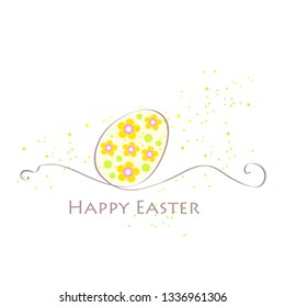 Easter card with colorful Easter egg.