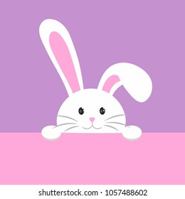 Easter card. love, sweet,fun cards. Bunny rabit. Vector illustration Easter bunny, two card to a happy Easter.