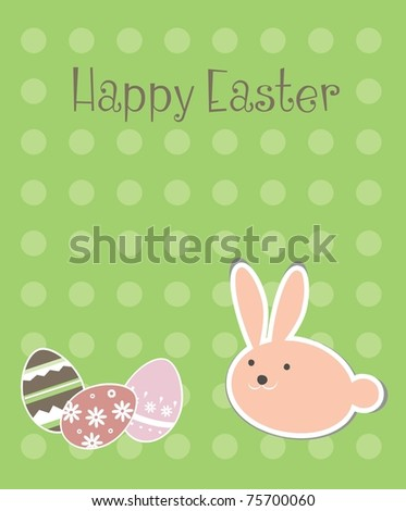 easter card template stock vector royalty free 75700060 shutterstock