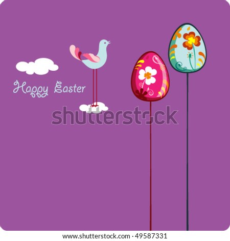 easter card template cloud shape bunny stock vector royalty free