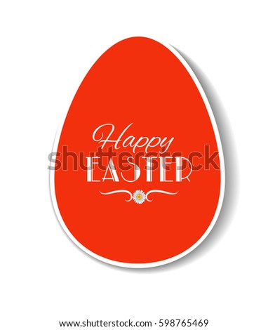 easter card template design paper label stock vector royalty free