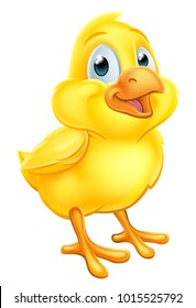 An Easter chick baby chicken cute cartoon character