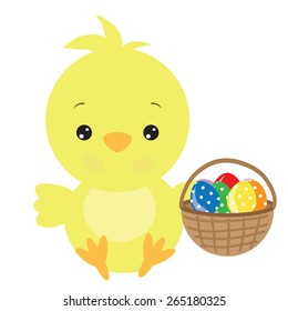 Easter chicken vector illustration