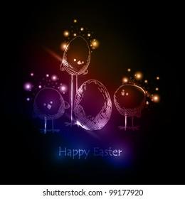 Easter chicks, eps10