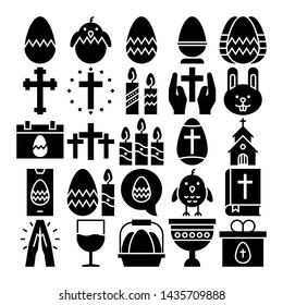easter day icon set mantap stock vector royalty free 1435709888 shutterstock