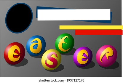 easter day template vector illustration
