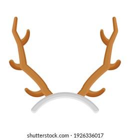 Easter deer hunter antlers, flat icon design