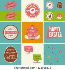 Easter Design Element Set