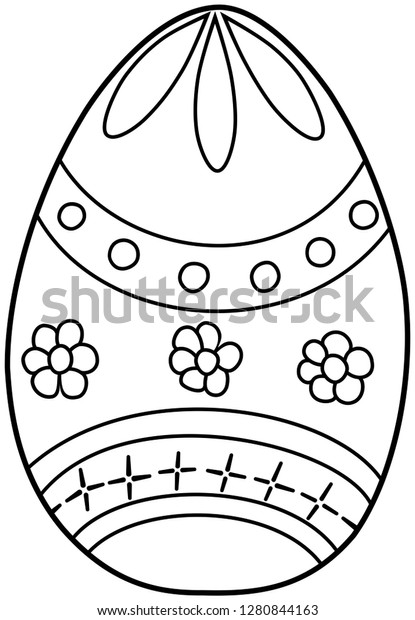 Easter Egg Coloring Book Kids Hand Stock Vector (Royalty ...