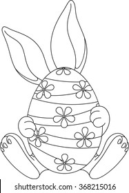 easter egg coloring page 260nw