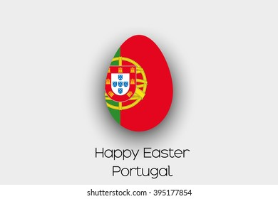 An Easter Egg  Flag Illustration of the country of Portugal