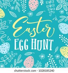 easter egg hunt invitation template