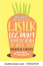 easter egg hunt poster template vector/illustration