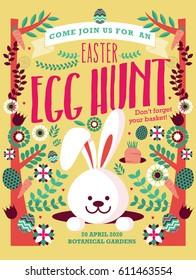 easter egg hunt template vector/illustration