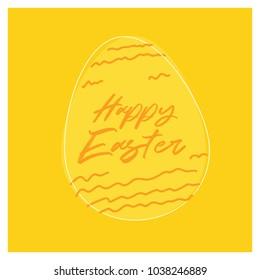 Easter egg invitation template. Vector illustration