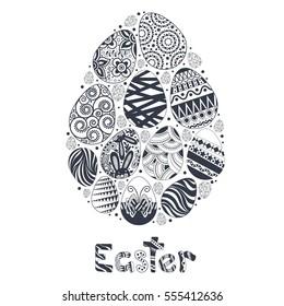 Easter egg logo template for celebratory design