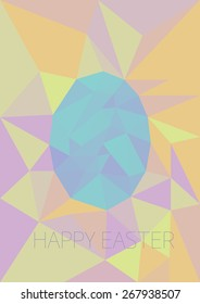 Easter egg low poly colorful