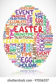 Easter egg made of words