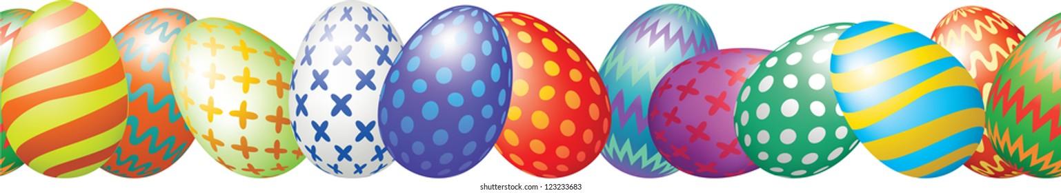 easter eggs border