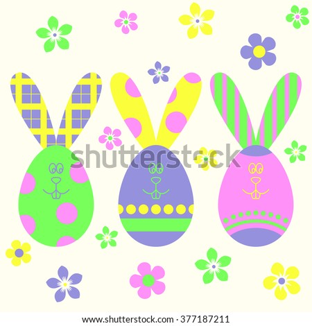easter eggs easter bunny template easter stock vector royalty free