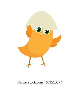 Easter eggs chicks design element. Easter background vector eps10