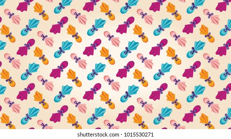 Easter eggs colorful pattern. Easter Holiday seamless decoration.