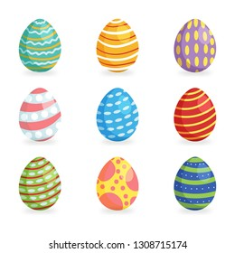 Easter eggs for Easter holidays design isoleted in white background