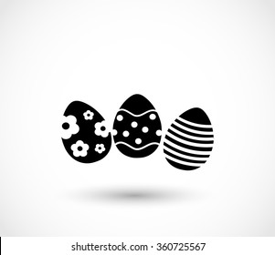 Easter eggs icon vector
