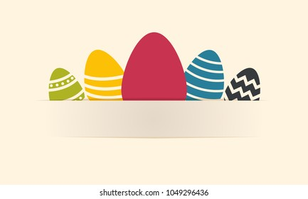 Easter Eggs on background - gift card