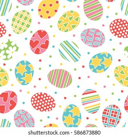 Easter eggs. Seamless vector pattern (background).