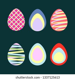 Easter Eggs series vector graphic