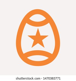 easter eggs simple icon isolated sign symbol vector illustration - vector