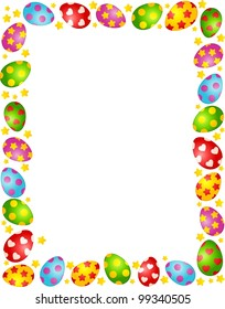 Easter Eggs. Vector frame