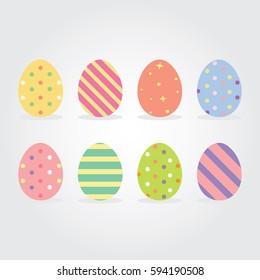 Easter eggs Vector illustration.